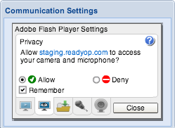 Screenshot: Communication Settings