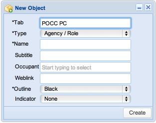 Screenshot: Create Object