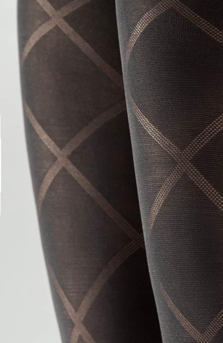 Carrara 60DEN černé punčocháče se vzorem kára