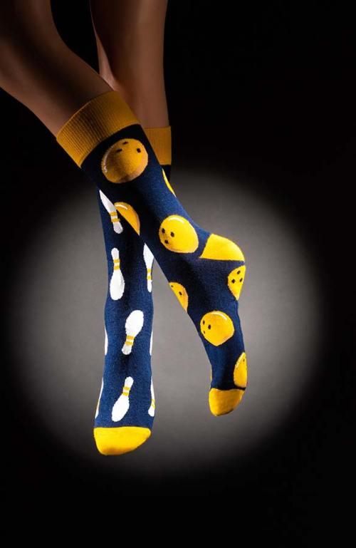 Veselé pánské ponožky kuželky Strike