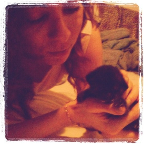 Annie + kitten