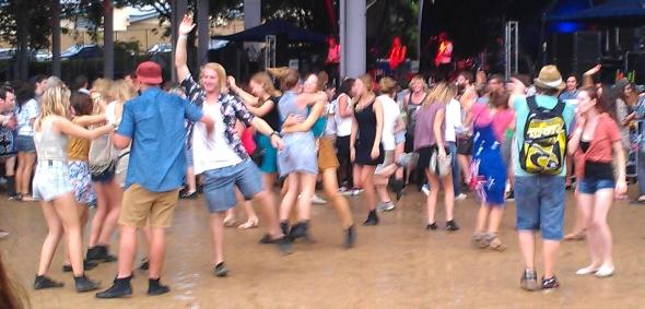 Australian flag shirt - Laneway Festival, Brisbane 2012