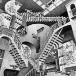 MC Escher Relativity - fair use for discussion of artist - via Wikipedia