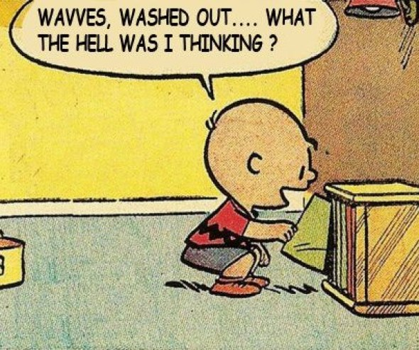 Charlie Brown washed out