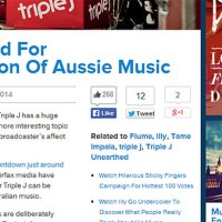 Triple J Blamed For Homogenisation Of Australian Music Websites