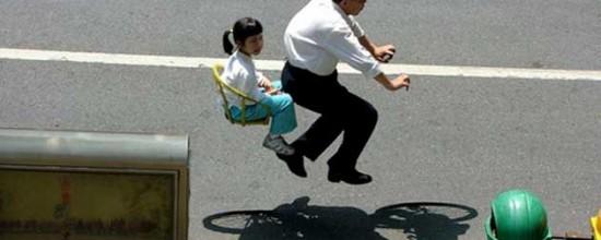 Zhao Huasen - Floating - Fotografie di biciclette invisibili