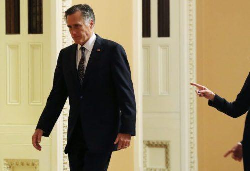 Mitt Romney at the US Capitol