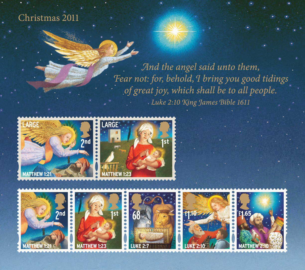Christmas 2011 Collect GB Stamps
