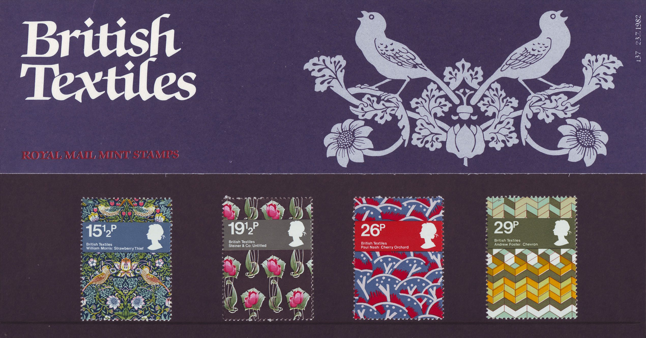 British Textiles 1982 Collect GB Stamps