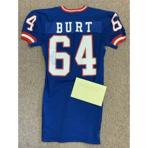 1984 Jim Burt New York Giants Game Used Autographed Football Jersey _Number_64 w_ LOA