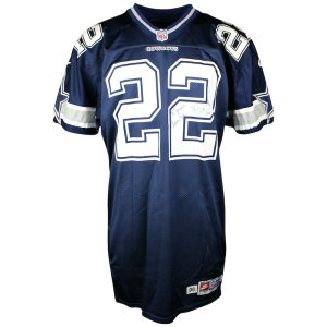 1996 Emmitt Smith Signed Game Used Dallas Cowboys Jersey JSA _And_ Grey Flannel COA