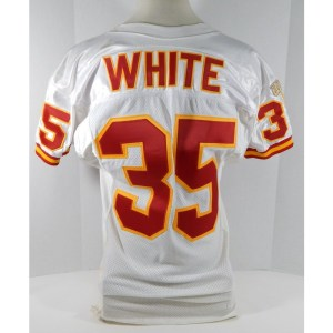 1996 Kansas City Chiefs William White _Number_35 Game Issued Pos Used White Jersey 807
