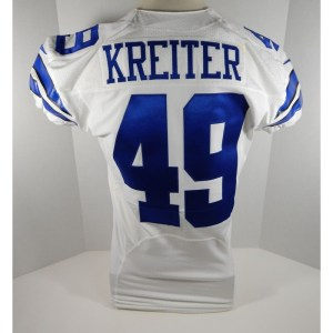 2013 Dallas Cowboys Casey Kreiter _Number_49 Game Issued White Jersey