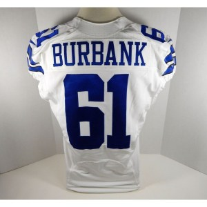 2013 Dallas Cowboys Ross Burbank _Number_61 Game Issued White Jersey