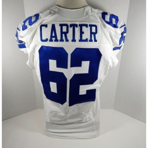 2014 Dallas Cowboys Bruce Carter _Number_62 Game Issued White Jersey