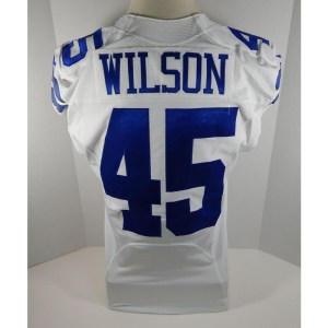 2014 Dallas Cowboys Damien Wilson _Number_45 Game Issued White Jersey