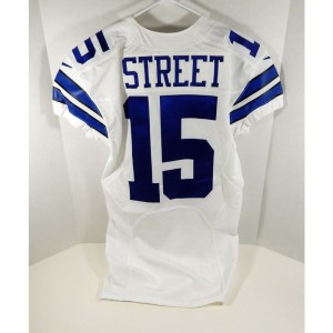 2014 Dallas Cowboys Devin Street _Number_15 Game Issued White Jersey London Poppy