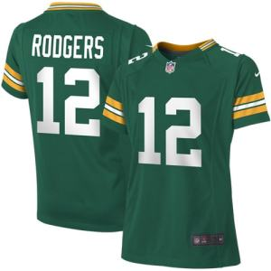 Aaron Rodgers Green Bay Packers Nike Girls Youth Game Jersey - Green
