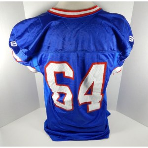 Buffalo Bills _Number_64 Game Used Blue Jersey BILL0452