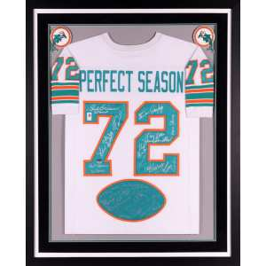 Miami Dolphins Fanatics Authentic Deluxe Framed Autographed 1972 Team Signed 40th Anniversary Jersey