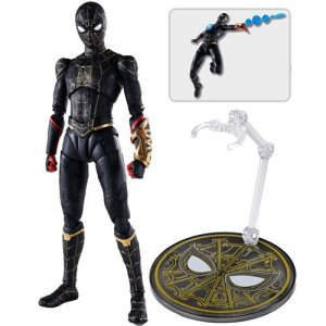 Spider-Man: No Way Home Spider-Man Black and Gold Suit S.H.Figuarts Action Figure