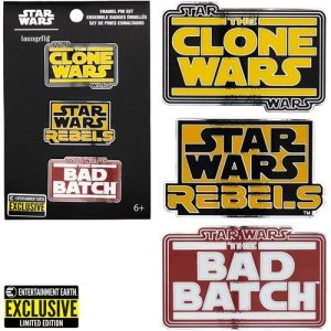 Star Wars Animated Series Enamel Pin 3-Pack - Entertainment Earth Exclusive