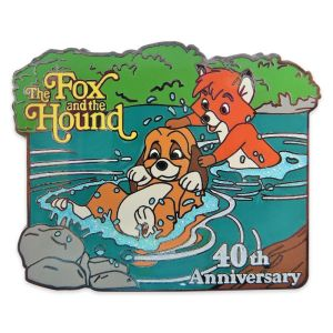 The Fox and the Hound 40th Anniversary Pin Limited Release Official shopDisney