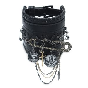 The Haunted Mansion Safety Pin Faux Leather Bracelet by Betsey Johnson Official shopDisney