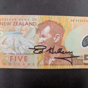 edmund hillary signed bank note