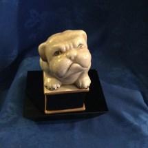 Marble style bulldog