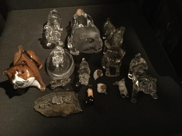 Glass and Chrystal bulldog selection