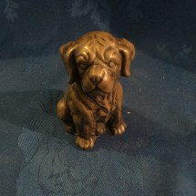 Cold cast bronze puppy
