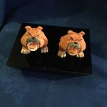 Comical Bulldog Figurines