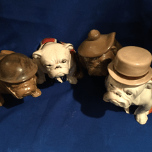 Four Large Seated Bulldogs 1817 onwards