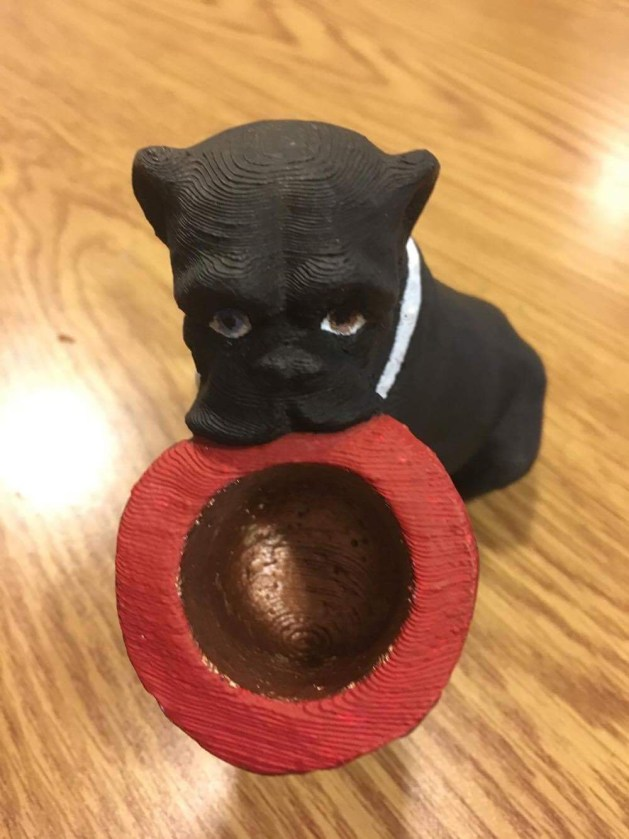 Painted bulldog