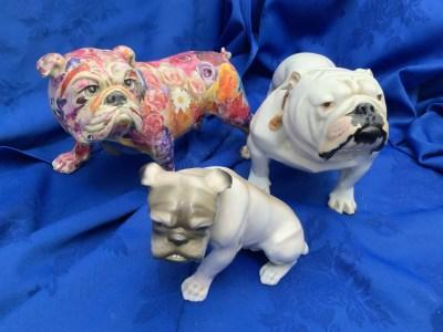 Antique bulldog collection