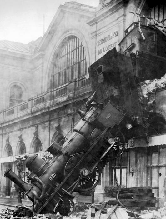 The future awaits...train crash image