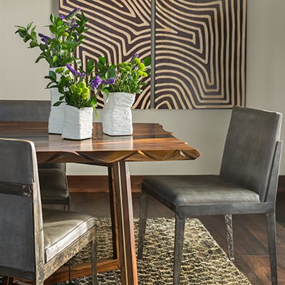 Dining chairs from Collective furniture store in Summit County, Colorado