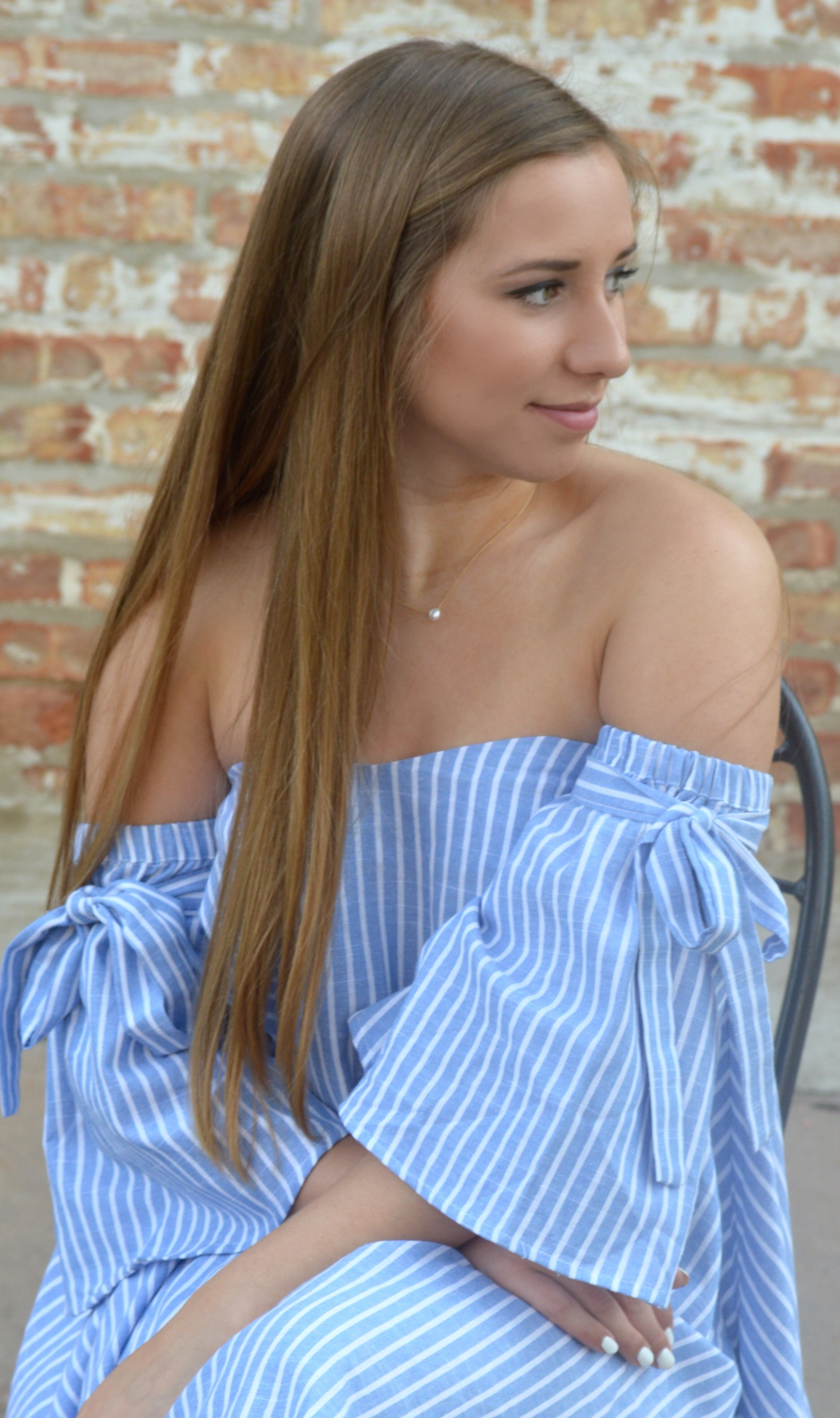 SheIn Blue Striped Dress