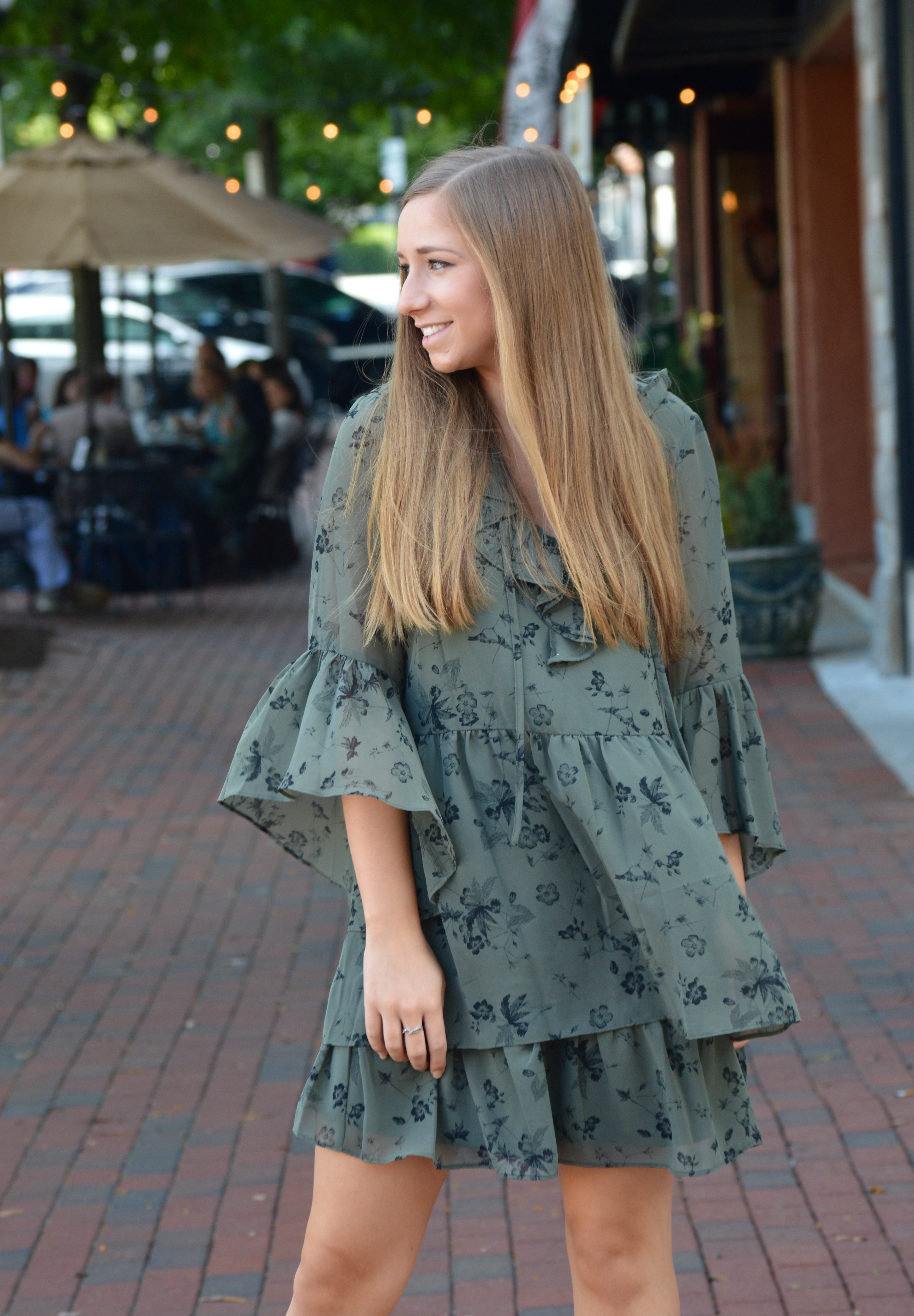 Easy Olive Green Fall Dress