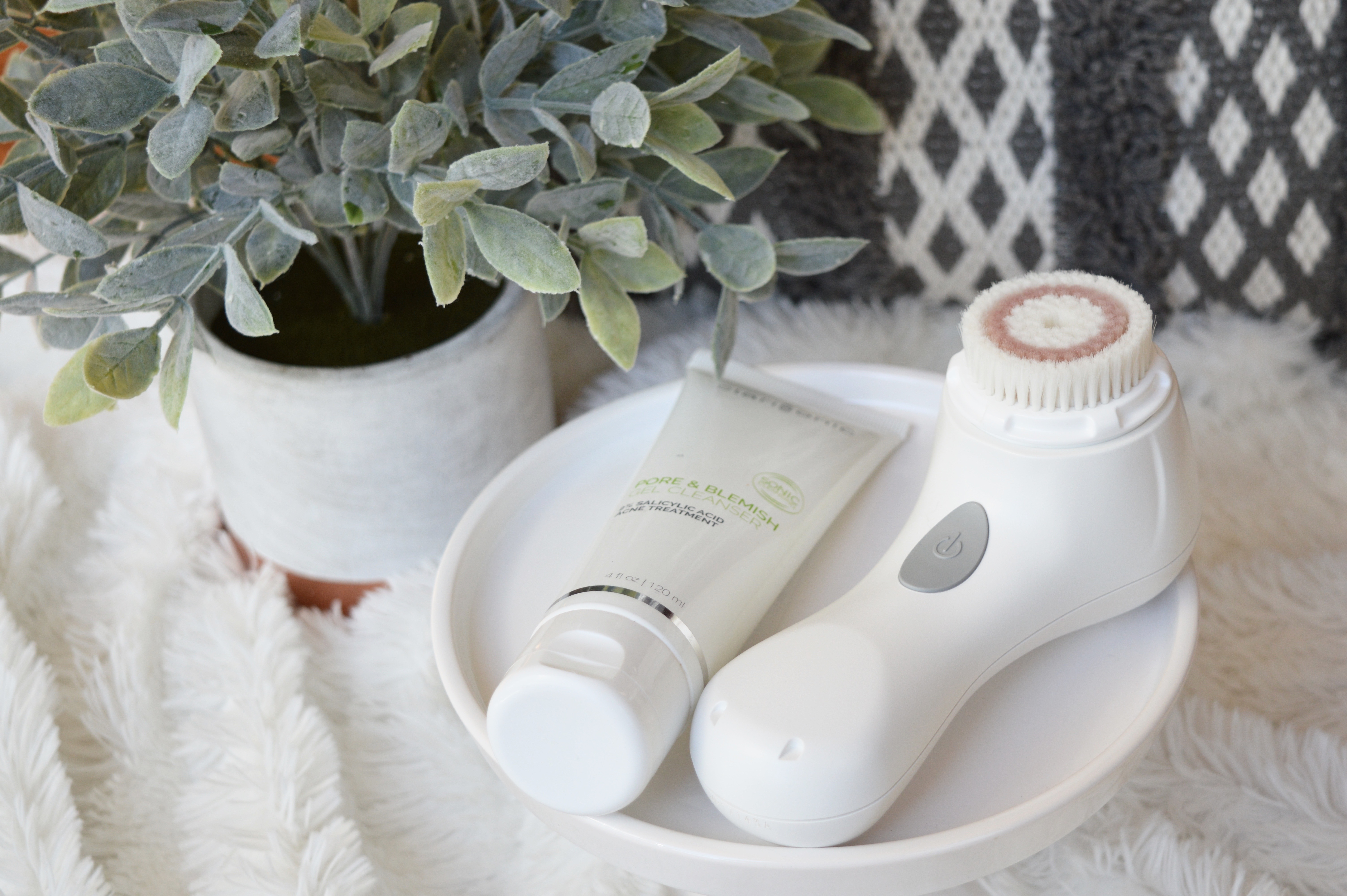 Deep Skincare Cleansing with Clarisonic + Salicylic Acid Face Wash for Acne Prone Skin