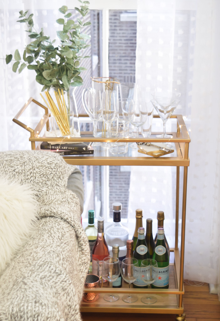 How to Style a Classic and Timeless Bar Cart