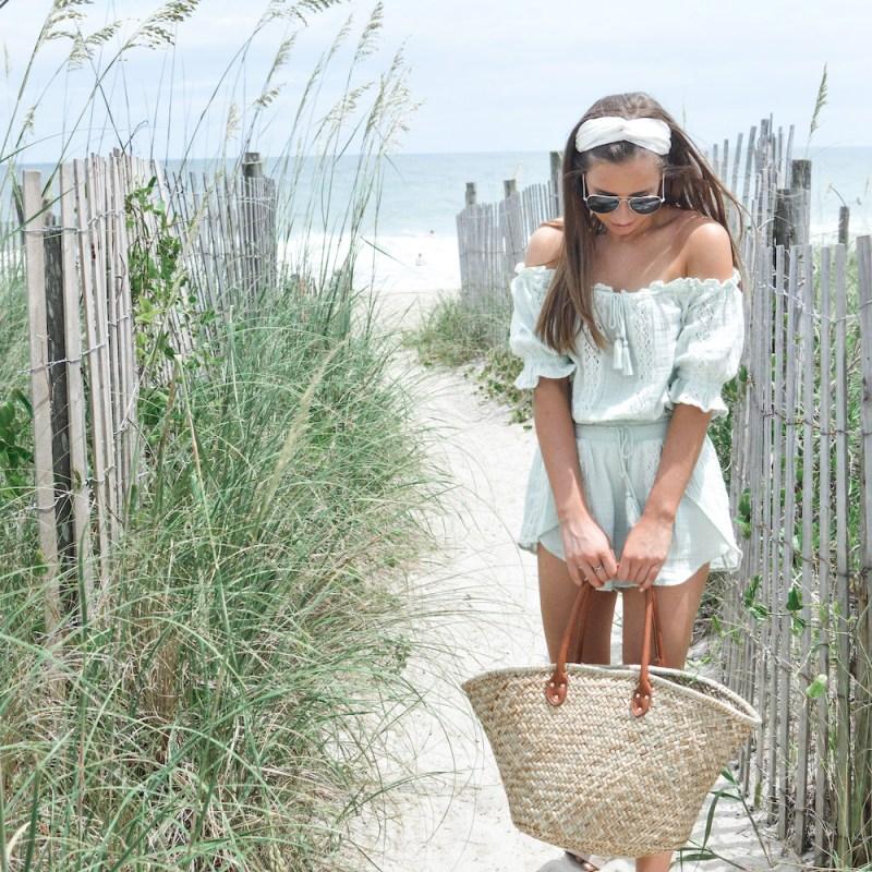 Beachy Lace Two-Piece Romper Set