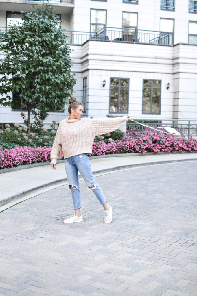 Easy Fall Outfits with Chunky Knit Sweaters