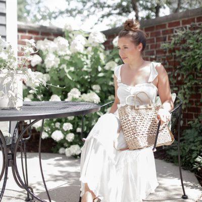 Cute Little White Midi Dress