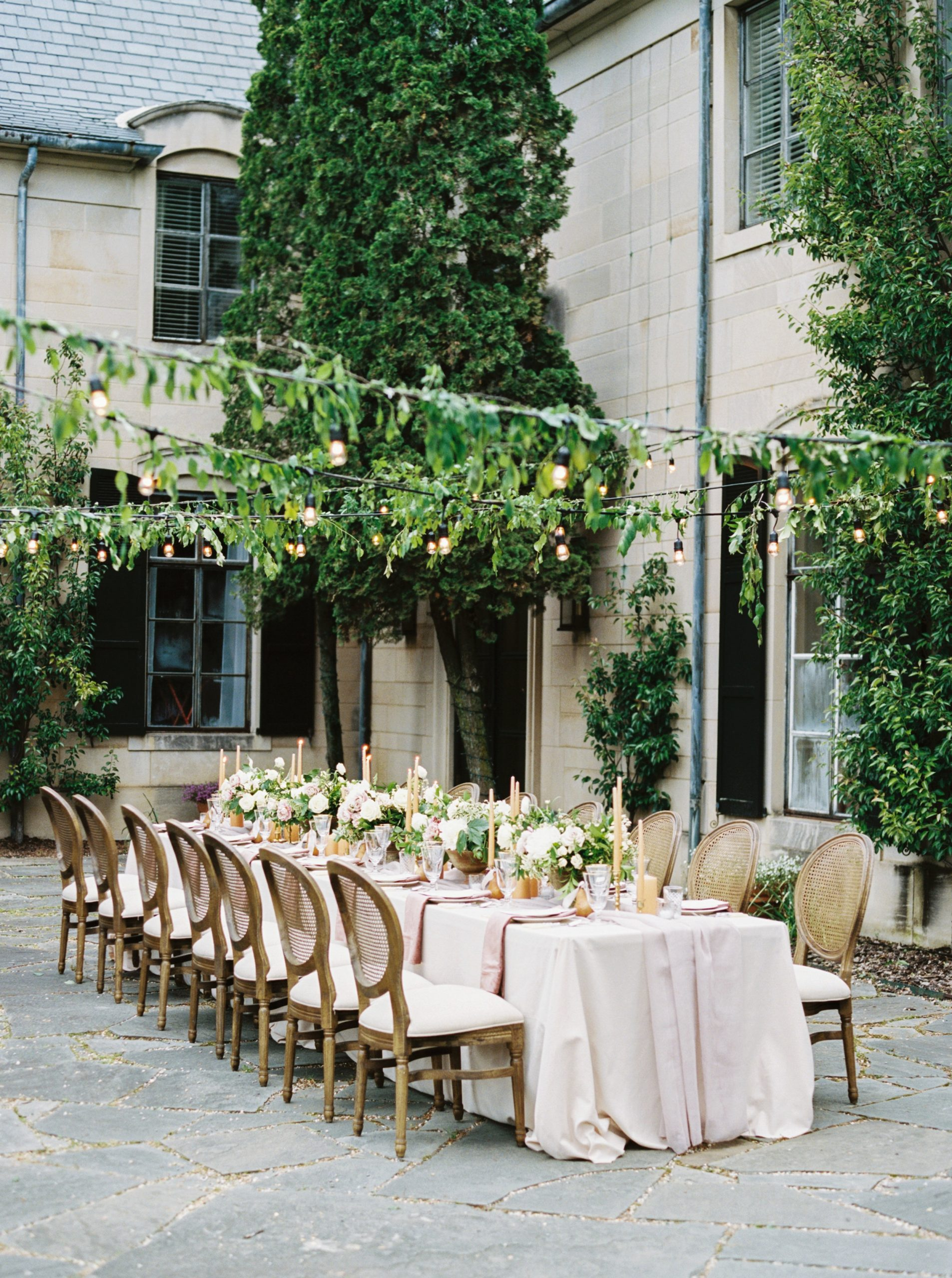 Outdoor Wedding Seating at an Estate Wedding Venue