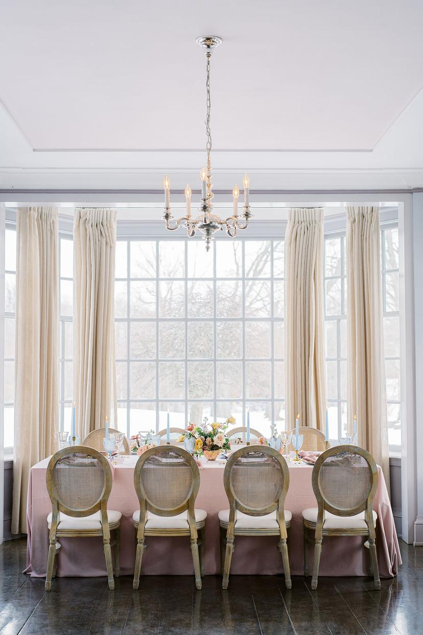 Vintage Wedding Venue with Beautiful Window Coverings