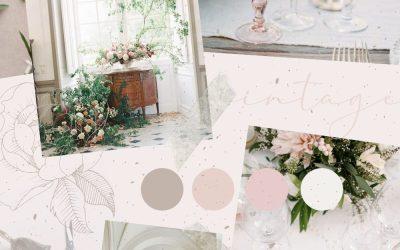 Wedding Planning Vintage Aesthetic Mood Board