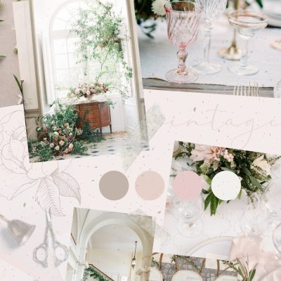 Wedding Planning Vintage Aesthetic Mood Board