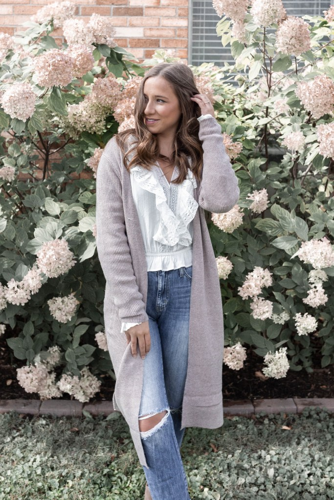 Cozy Tan Duster Cardigan Perfect for a Fall and Winter Capsule Wardrobe